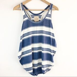 Chaser | Striped Slit Side Racer Back Tank Top